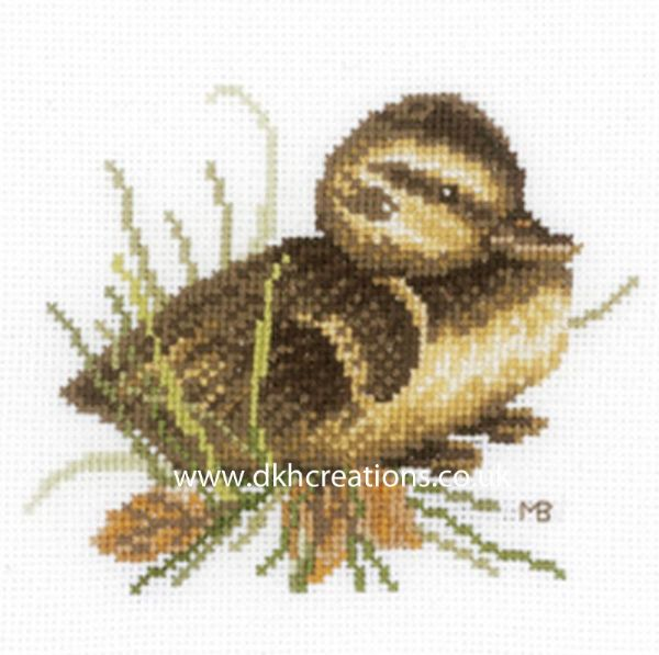 Duckling At Rest Cross Stitch Kit